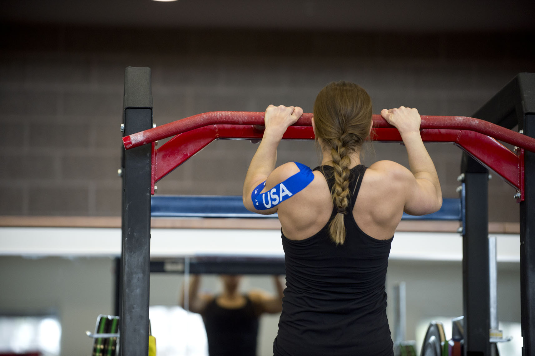 KT Tape, Oksana Masters training at the Olympic Training Center