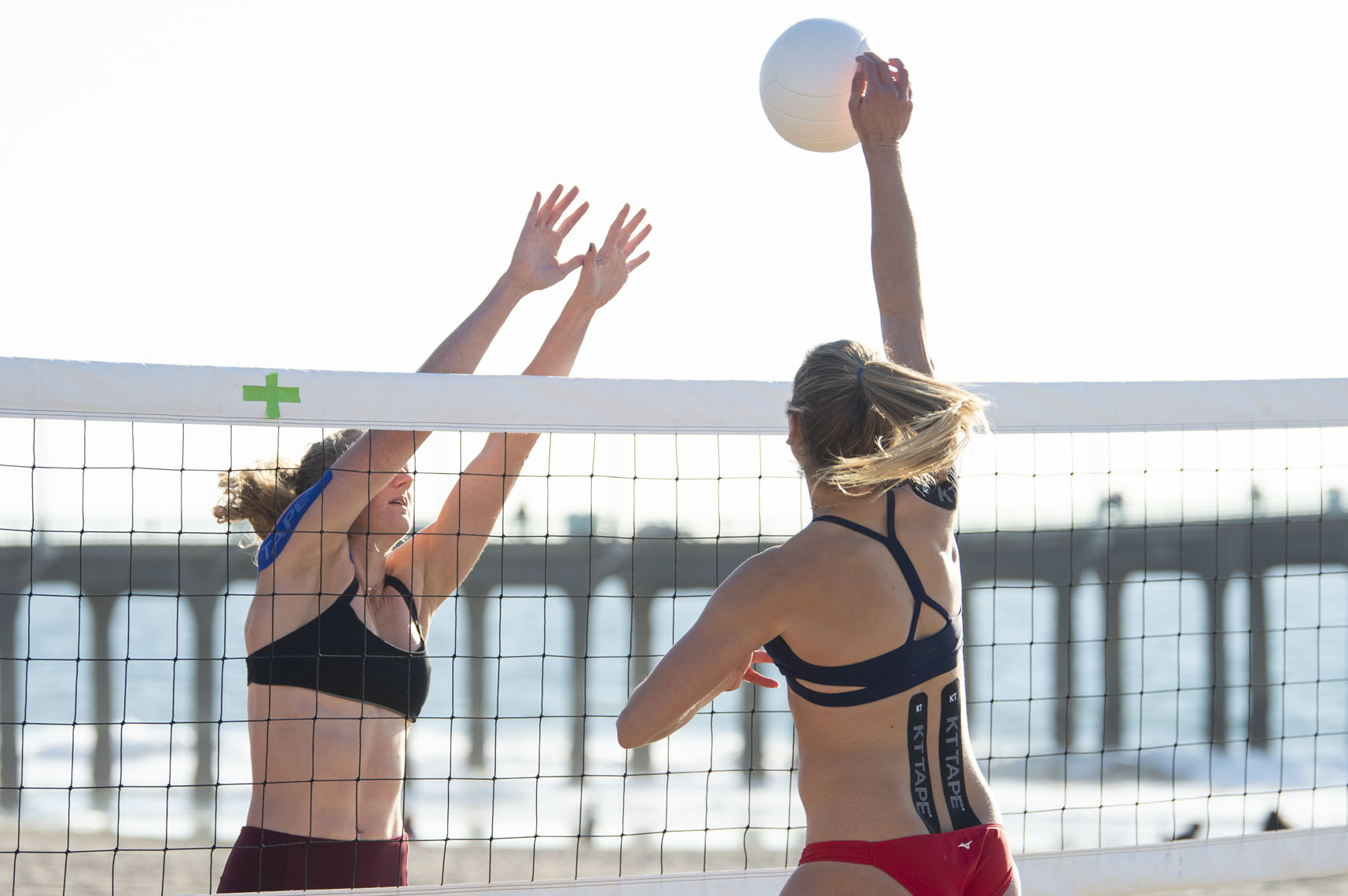 Beach Volleyball players April Ross and Alix Klineman for KT Tape