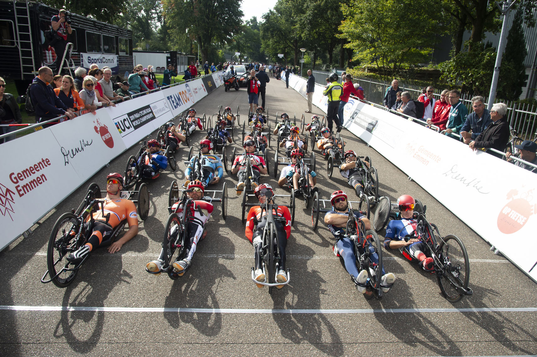 Starting Grid, Hand cycling, 2019 Paracycling Road World Championships