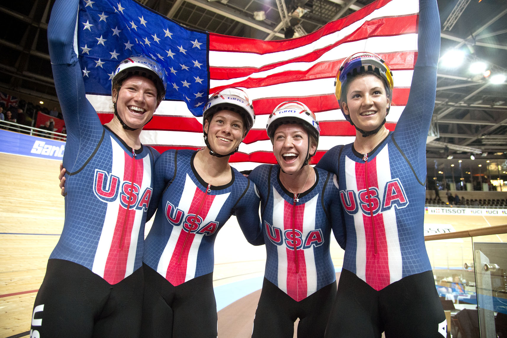 USA Team Pursuit World Champions, Track Worlds, Berlin.