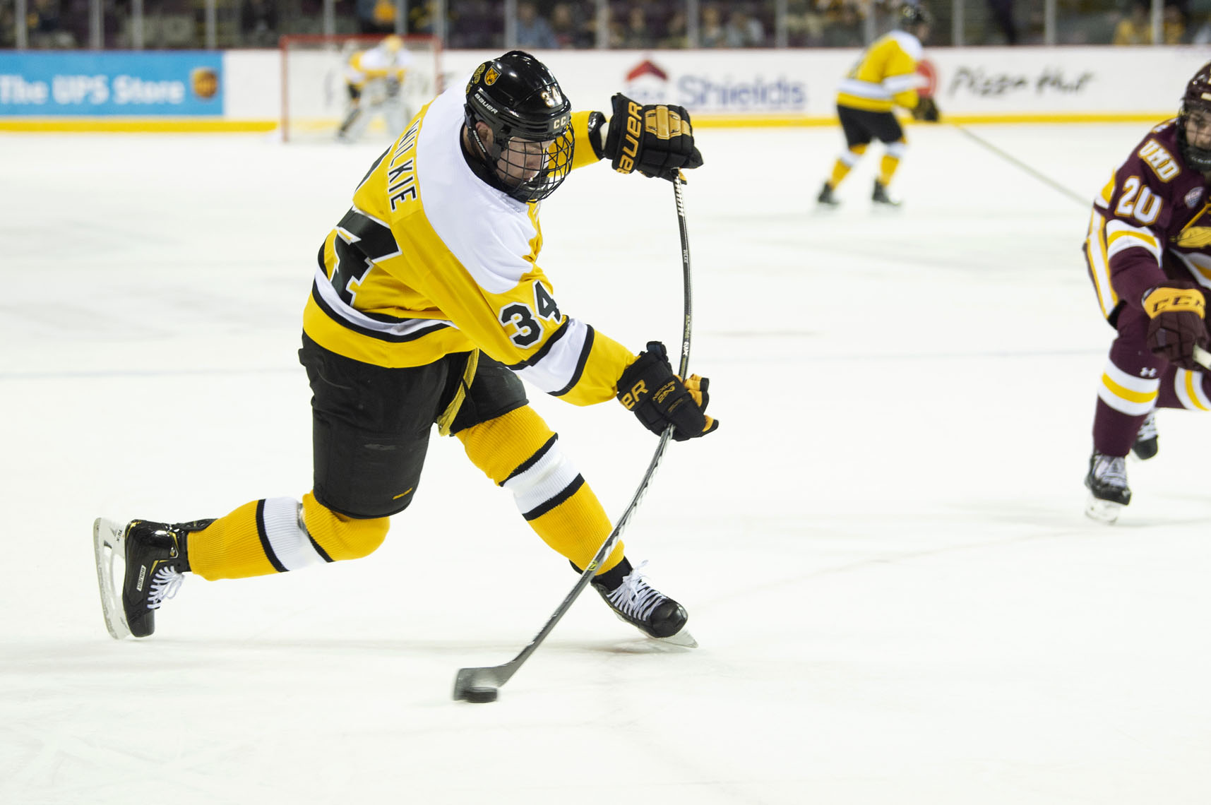 Chris Wilkie, Colorado College Hockey, Slap shot